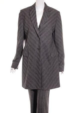 Clothcraft Hosenanzug anthrazit-grau Streifenmuster klassischer Stil