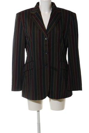 Clothcraft Short Blazer black-white striped pattern business style