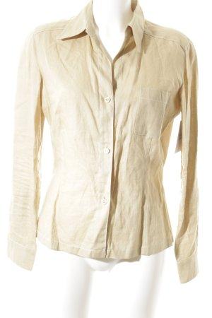 Clothcraft Langarmhemd creme schlichter Stil