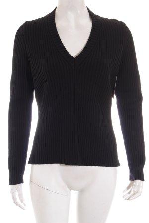 Clothcraft V-Ausschnitt-Pullover schwarz klassischer Stil