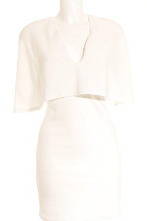 Club L Stretchkleid weiß Elegant
