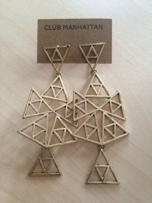 CLUB MANHATTAN Lange goldfarbene Ohrringe