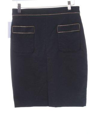 Club monaco Bleistiftrock dunkelblau-goldfarben klassischer Stil