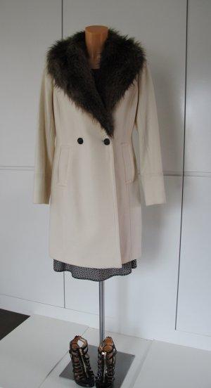 Club Monaco Fake Fur Coat natural white wool
