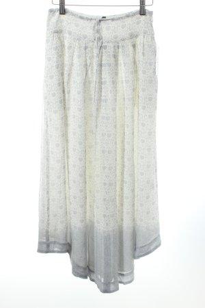Club monaco Maxirock weiß-grau florales Muster Country-Look