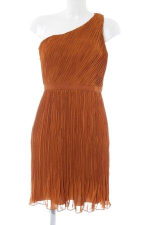 Club Monaco One Shoulder Dress cognac-coloured simple style