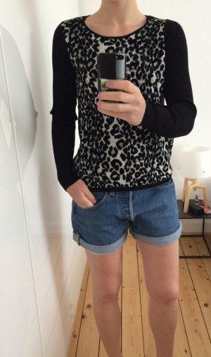 Club Monaco Pullover Jumper Sweater Shirt Leopard Strick Gr S