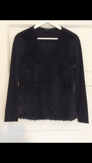 Club Monaco Pullover Sweater Jumper Sweatshirt Strick Fake Fur Fell Pelz Gr. S