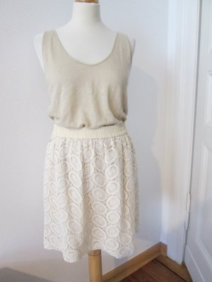 Club Monaco by Ralph Lauren Lace Skirt cream-oatmeal cotton