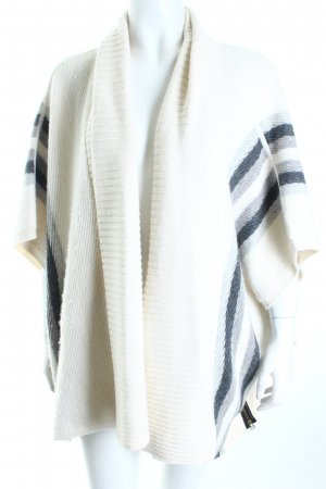 Club monaco Strickponcho Streifenmuster Casual-Look