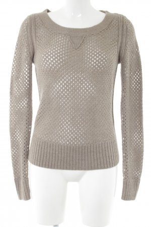 Club Monaco Knitted Sweater light grey cable stitch casual look