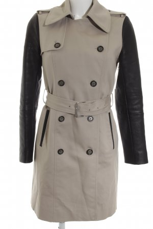 Club Monaco Trenchcoat hellgrau-schwarz Business-Look