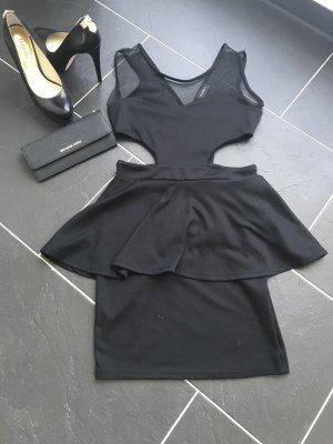 ClubL Minikleid Cutout schwarz