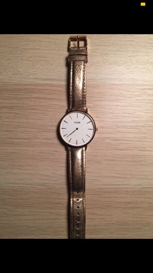 Cluse Watch With Leather Strap rose-gold-coloured