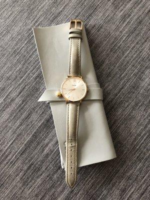Cluse Orologio con cinturino di pelle color oro rosa-argento