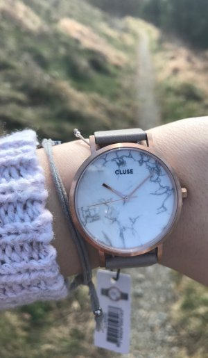 CLUSE - La Roche Rose Gold White Marble / Grey