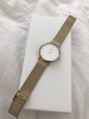 Cluse Watch With Metal Strap white-gold-colored