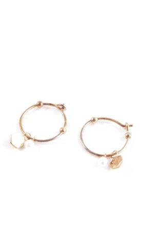 Cluse Pendientes de perlas color rosa dorado estilo urbano