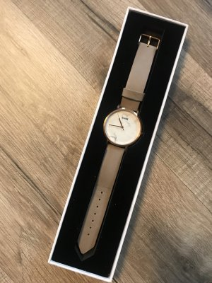 Cluse Watch With Leather Strap grey brown