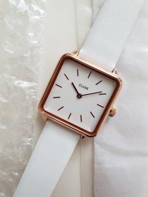 Cluse Uhr Eckig Quadrat Damenuhr Rosegold La Garconne
