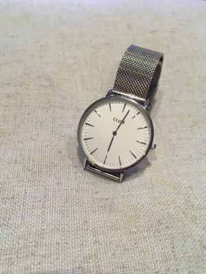Cluse Montre avec bracelet métallique argenté-blanc