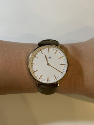 Cluse Watch With Leather Strap multicolored