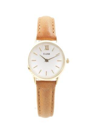Cluse Uhr mit Lederarmband cognac-goldfarben Casual-Look
