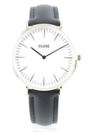 Cluse Horloge met lederen riempje veelkleurig zakelijke stijl