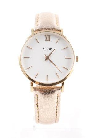 Cluse Uhr mit Lederarmband mehrfarbig Schimmer-Optik