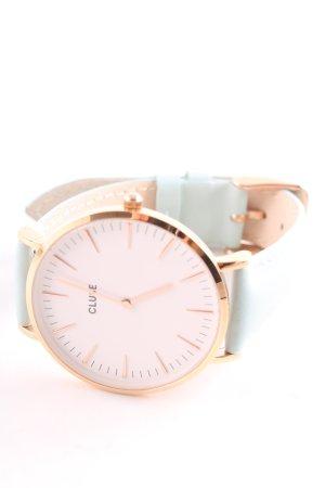 Cluse Uhr mit Lederarmband mint-goldfarben Casual-Look