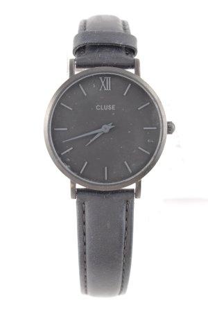 Cluse Uhr mit Lederarmband schwarz Business-Look