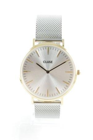 Cluse Horloge met metalen riempje goud-zilver elegant