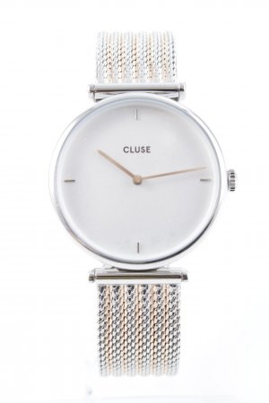 Cluse Uhr mit Metallband silberfarben Casual-Look