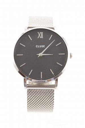 Cluse Watch With Metal Strap silver-colored-black minimalist style