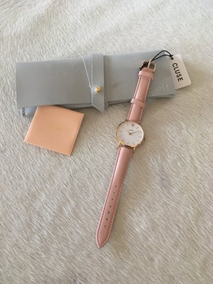 Cluse Uhr neu blogger mode Fashion Schmuck Leder rosa Rose Gold Armbanduhr Armband
