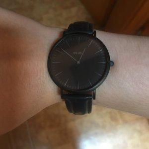Cluse Uhr schwarz neu