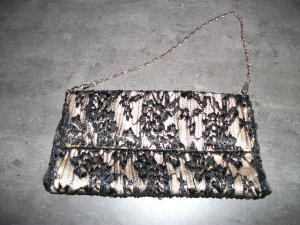 Clutch black-gold-colored