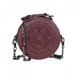 Gianni Versace Clutch bordeaux imitation leather