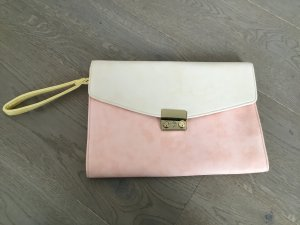 Zara Clutch pale yellow-pink