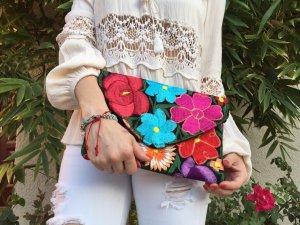 Borsa clutch multicolore