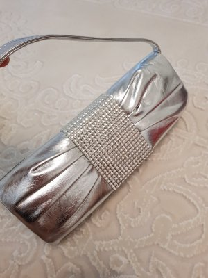 Clutch silver-colored
