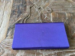 Clutch Abendtasche violett Satin Vintage