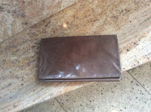 Clutch Abro, Antikleder, Taupe