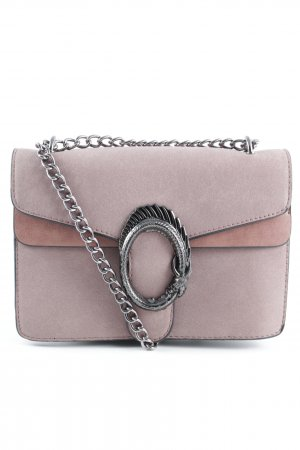 Clutch stoffig roze casual uitstraling