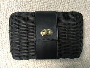 Clutch Bag Kleine Tasche Partytasche Stroh schwarz