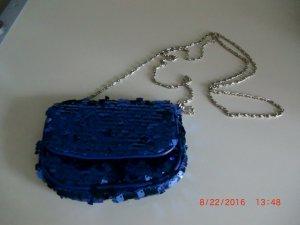 Clutch Blau mit Pailletten