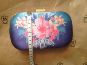 Clutch Blumen Hawaii Blau Blogger Style H&M