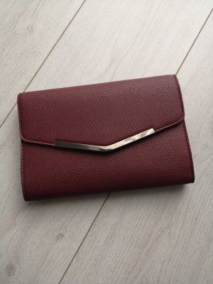 Clutch Bordeaux Lederoptik