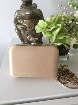 Clutch Box Gold Satin Vogel
