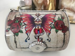 Clutch Box Scull Butterfly Little Earth